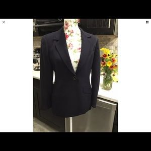 LIZ CLAIBORNE Dark Blue Career Suit Jacket Blazer